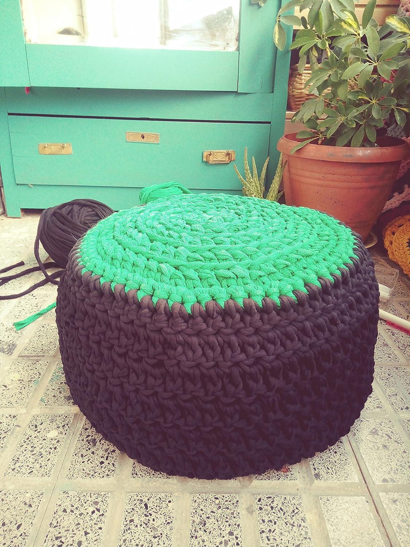 Zafú grande de meditacion en crochet modelo CHAKRA CORAZÓN ...