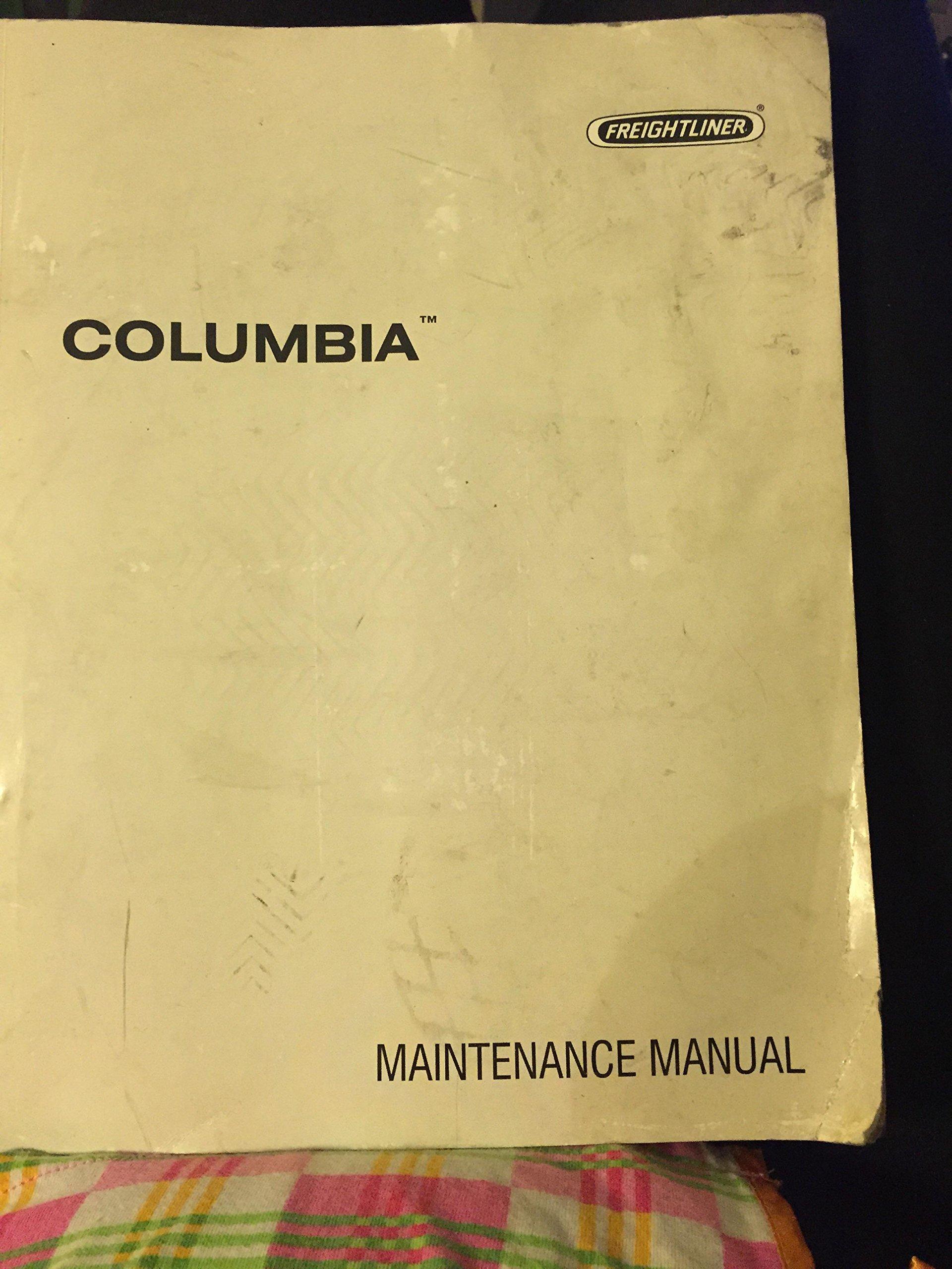 freightliner columbia maintenance manual models cl 112 cl 120 rh amazon com