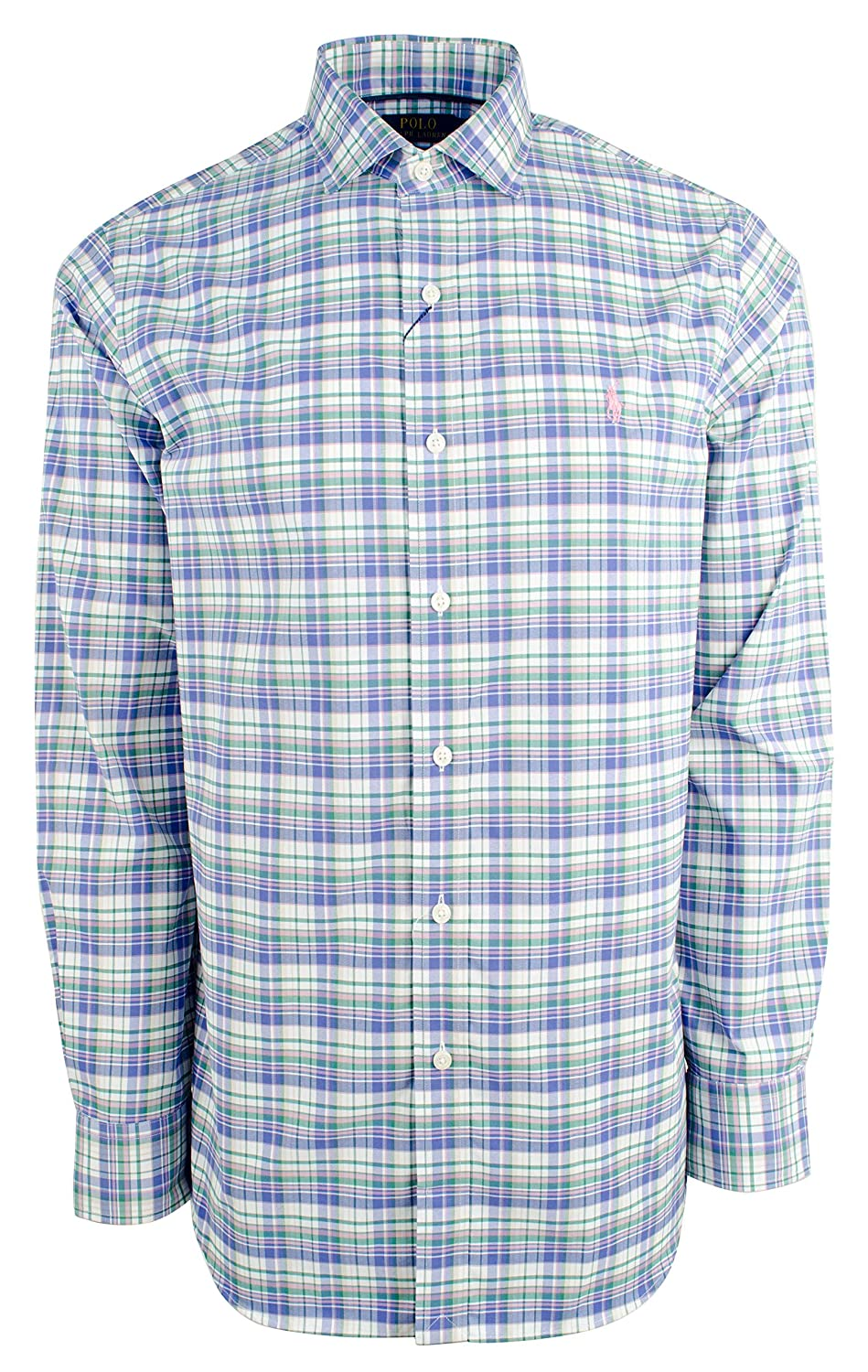 a488f9d8e Polo Ralph Lauren Men s Plaid Stretch Performance Twill Long Sleeve Shirt  at Amazon Men s Clothing store