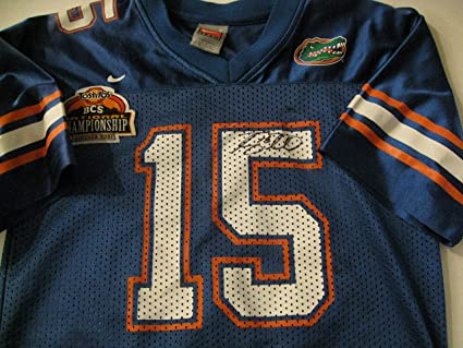 detailed look 25d2d 806b4 Tim Tebow autographed/signed Florida Gators Jersey COA at ...