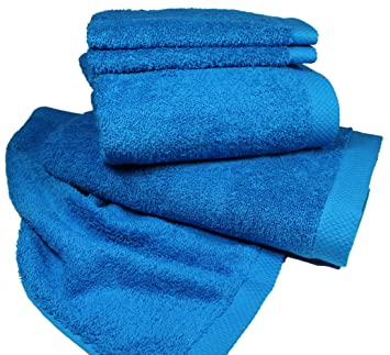 Serie Uni LASA INTERNACIONAL PURE toallas, de color turquesa, toalla de baño 100X150 cm: Amazon.es: Hogar