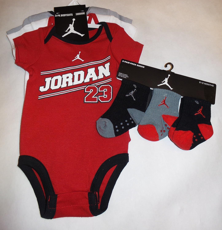 Amazon Jordan Nike Jumpman 23 Infant 3 Piece Set Bodysuit Size