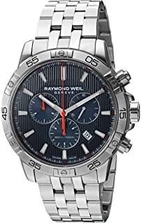 Raymond Weil Mens Tango Quartz Silver-Tone and Stainless Steel Diving Watch,