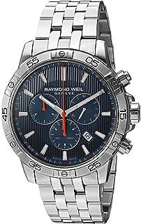 d0593d7d504 Raymond Weil Men s  Tango  Quartz Silver-Tone and Stainless Steel Diving  Watch