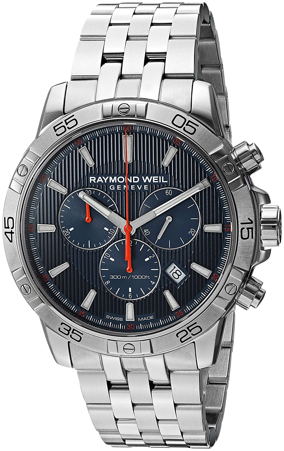 Raymond Weil Men s Tango Quartz Diving Watch with Stainless-Steel Strap, Silver, 20 Model 8560-ST2-50001