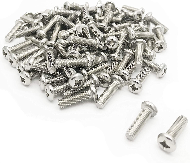 NOS Metric Phillips Bolts Screws 6 x50 mm 100 pieces