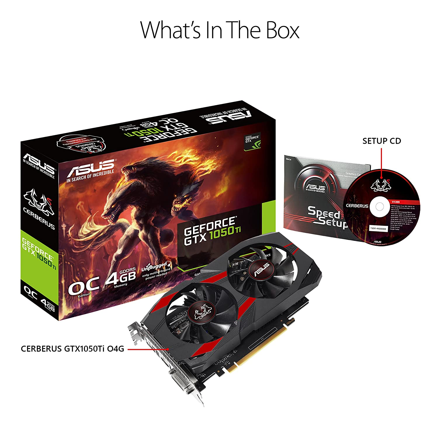 Amazon.com: ASUS Geforce GTX 1050Ti 4GB ROG Strix OC Edition ...