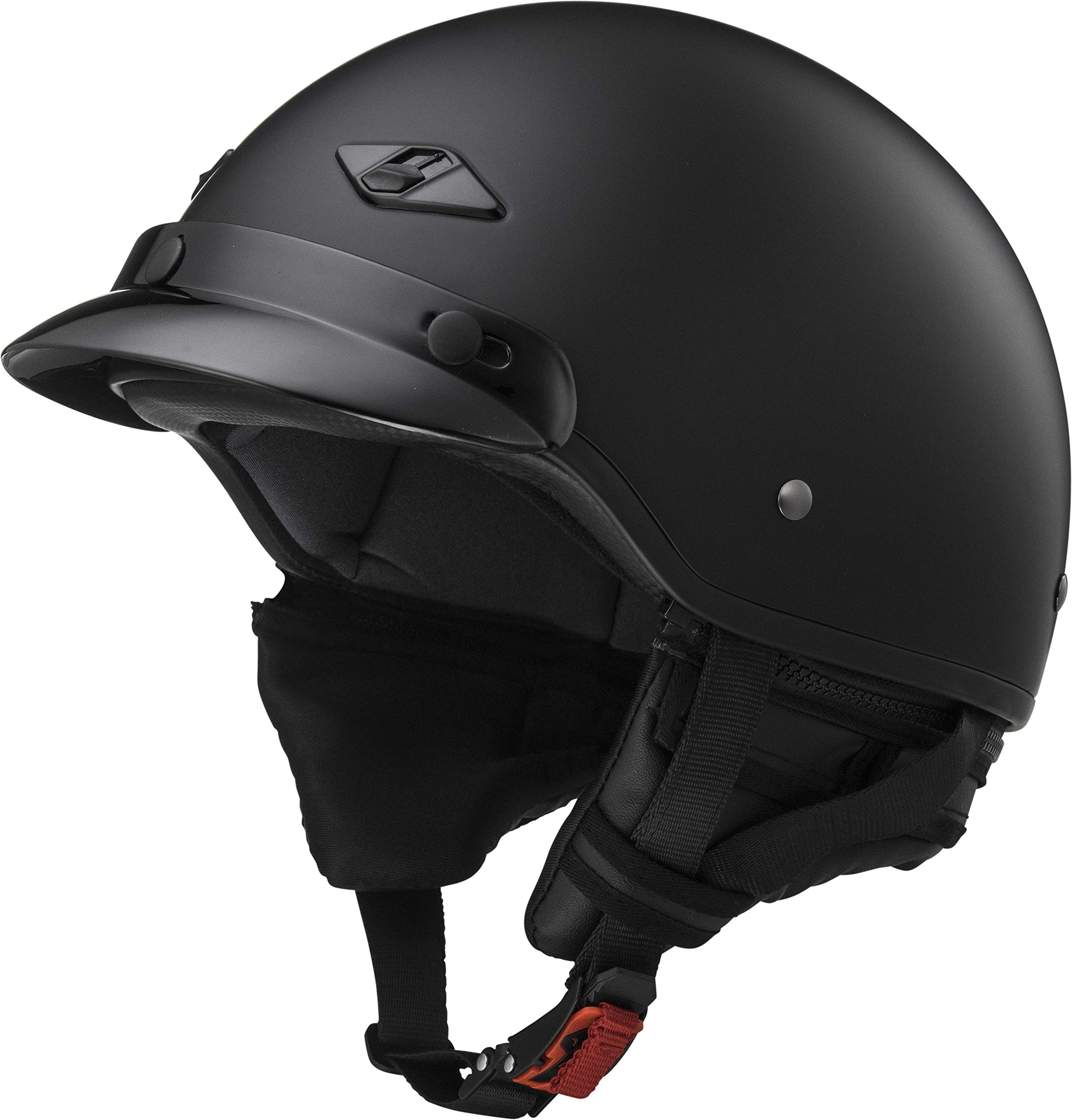 LS2 Helmets Unisex-Adult Half-Size-Helmet-Style Bagger Helmet (Matt Black, Small) by LS2 Helmets