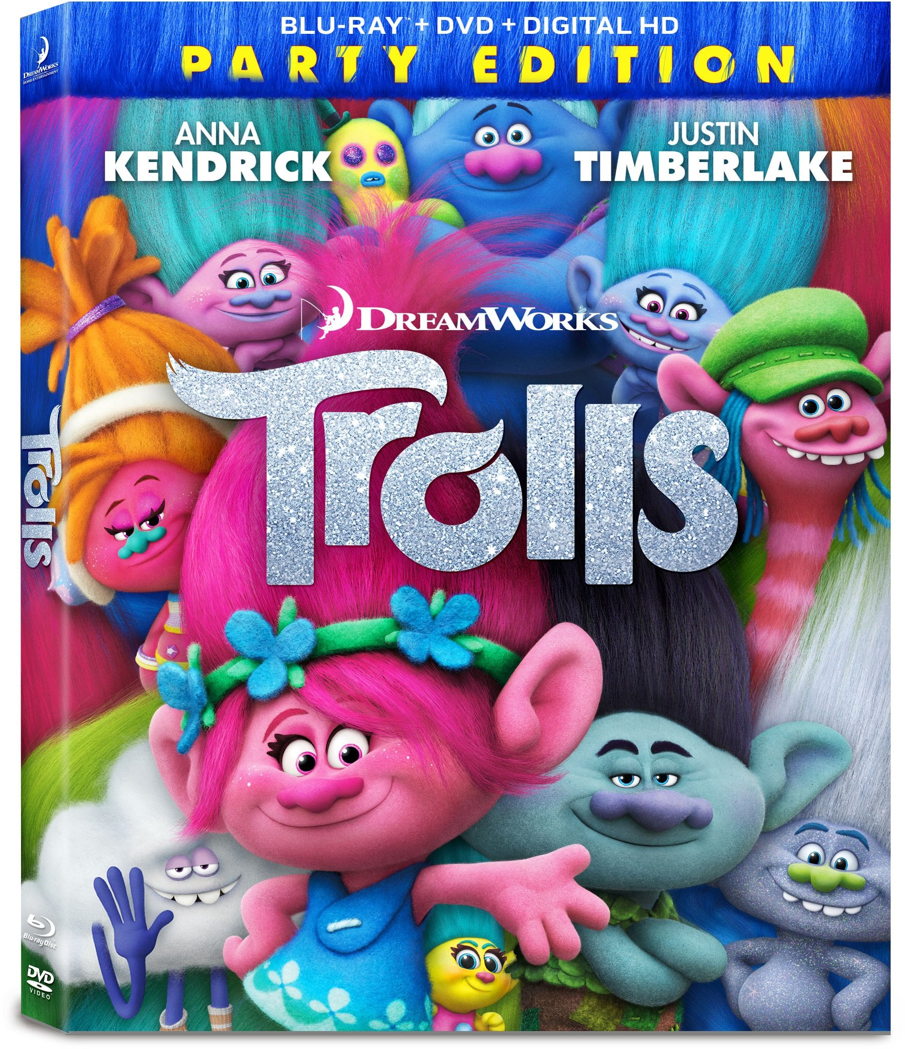 Blu-ray : Trolls (With DVD, Digitally Mastered in HD, Widescreen, , Dubbed)