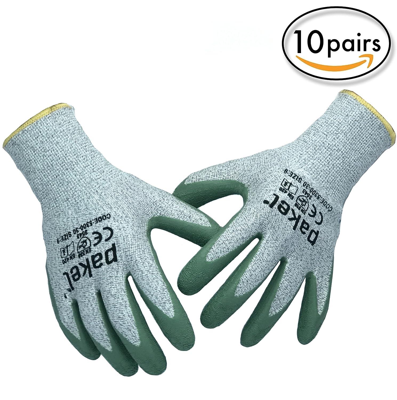 Pakel High Performance En388 CE Level 5 Cut Resistant Knit Wrist ...