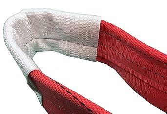 le Lef Longueur 10/m 1.0t limite de charge de travail De Levage De S/écurit/é amz1022482/Polyester Plat Sangle Web