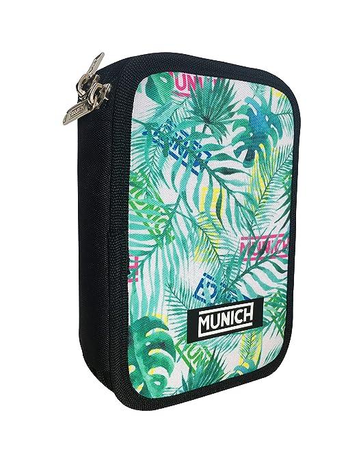 Munich Pattern Estuches, 20 cm, Verde: Amazon.es: Equipaje