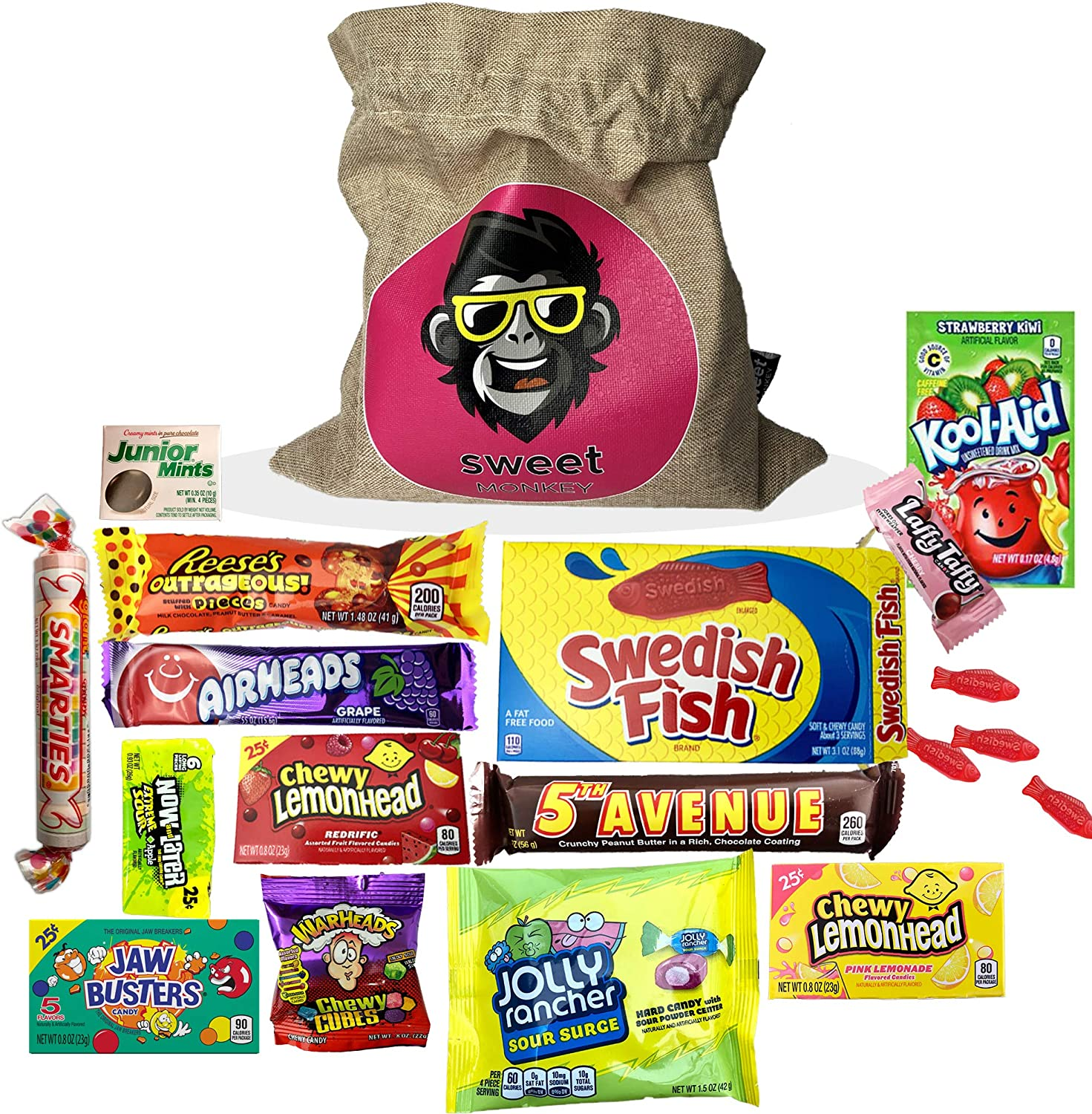 The USA Americano One | Bolsa de regalo Americano Candy USA | Bolsa De Caramelos Y Dulces Americanos | Candy Hamper Sweets & Chocolate Selection Paquete de cajas | fink gifts: Amazon.es: