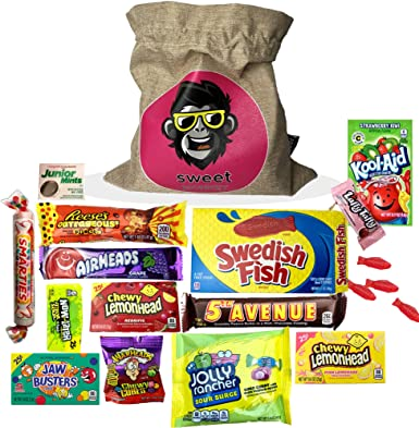 The USA Americano One   Bolsa de regalo Americano Candy USA   Bolsa De Caramelos Y Dulces Americanos   Candy Hamper Sweets & Chocolate Selection Paquete de cajas   fink gifts: Amazon.es: