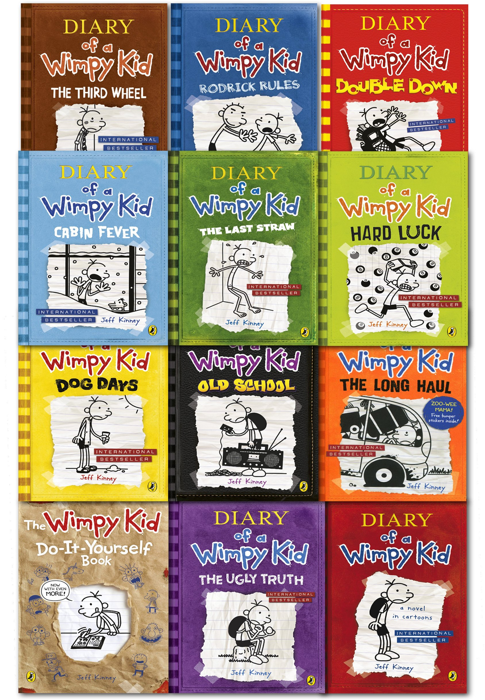 Diary of a wimpy kid collection 12 books set double down old diary of a wimpy kid collection 12 books set double down old school hard luck third wheel cabin fever the ugly truth dog days do it yourself book solutioingenieria Image collections