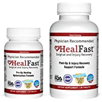 HealFast Complete Surgery & Injury Recovery Supplement: Supports Wound Healing, Pain Relief, Scar Treatment & Bruising w…