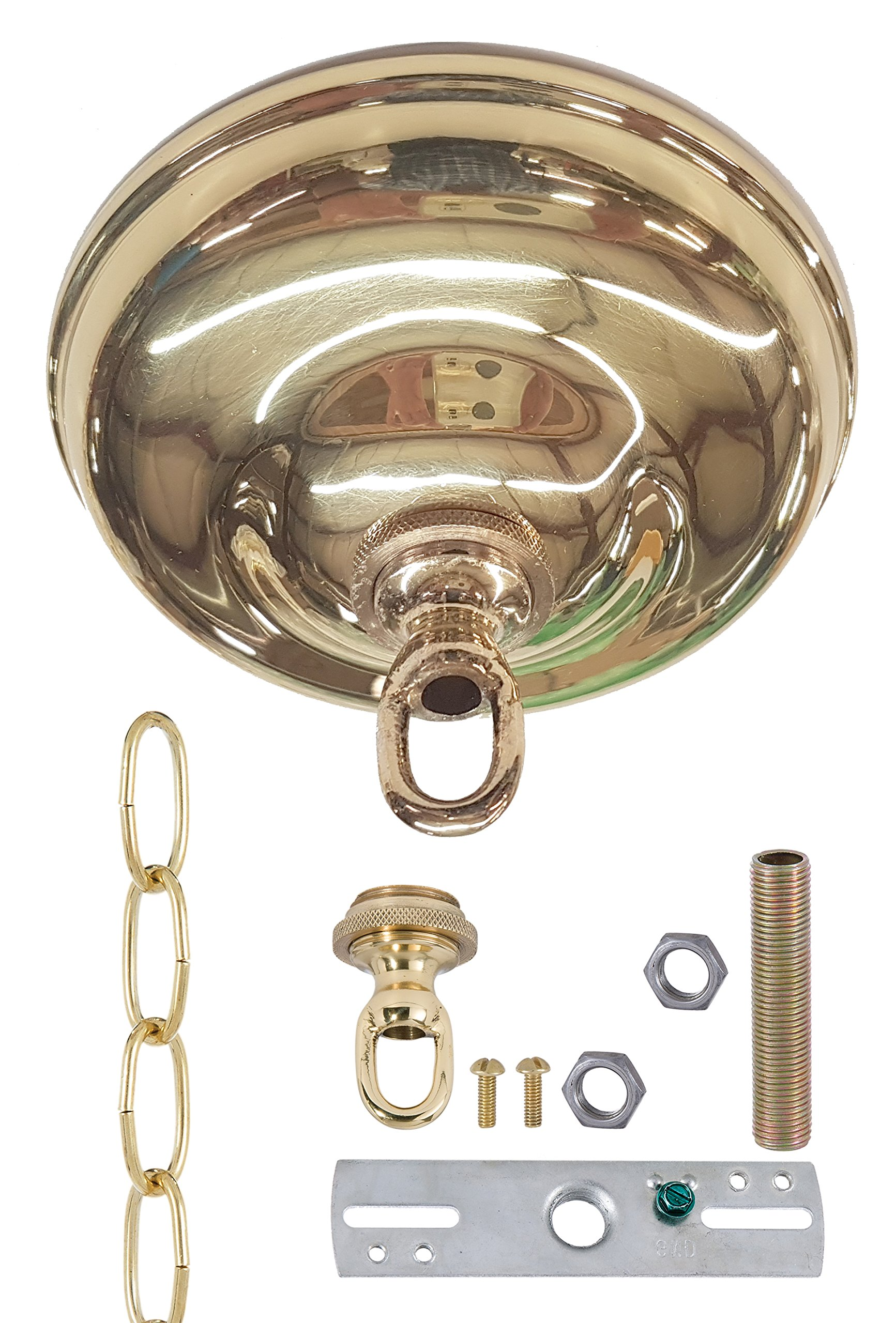 B&P Lamp Polished & Lacquered Brass Finish, Canopy Kit, 5 1/2'' Dia.