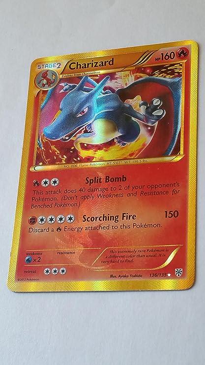 Amazoncom Charizard Plasma Storm 136135 Pokemon Card Secret Rare