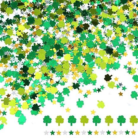 Shamrocks /& Leprechauns St Patrick/'s Day Table Confettis Large Métallique 70 g Pack