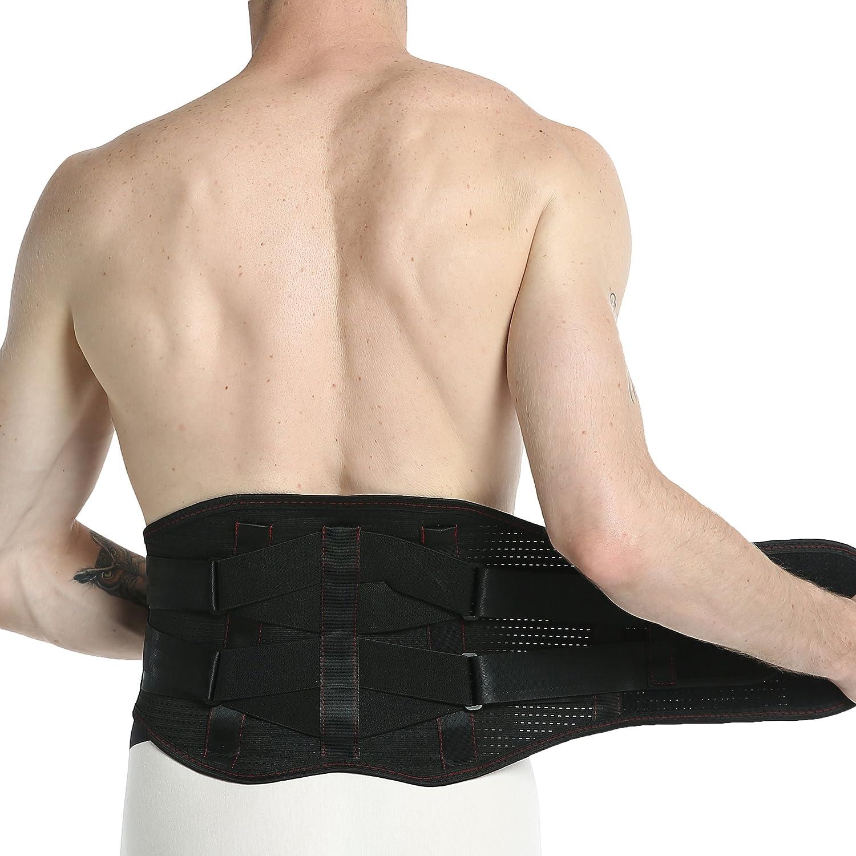 Gym//Posture//Entrainement//Musculation//Travail Ceinture lombaire Marque Neotech Care Mat/ériel respirant Noire Soutien//Maintien du dos renforc/é Corset double compression Taille XXL