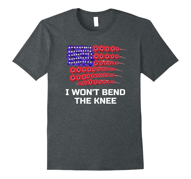 I won't bend the knee Tshirt - Trump Football Tee Shirt-FL