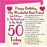 Best Friend 50th Happy Birthday Card