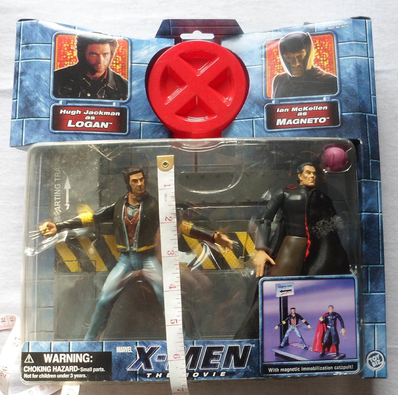 MAGNETO ACTION FIGURE 2 PACK Toy Biz 49772 X-MEN THE MOVIE WOLVERINE LOGAN VS