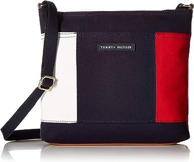 Tommy Hilfiger - Bolso para mujer, bandera, lona Mujer , Azul (Tommy Navy), Talla única: Amazon.es: Ropa y accesorios