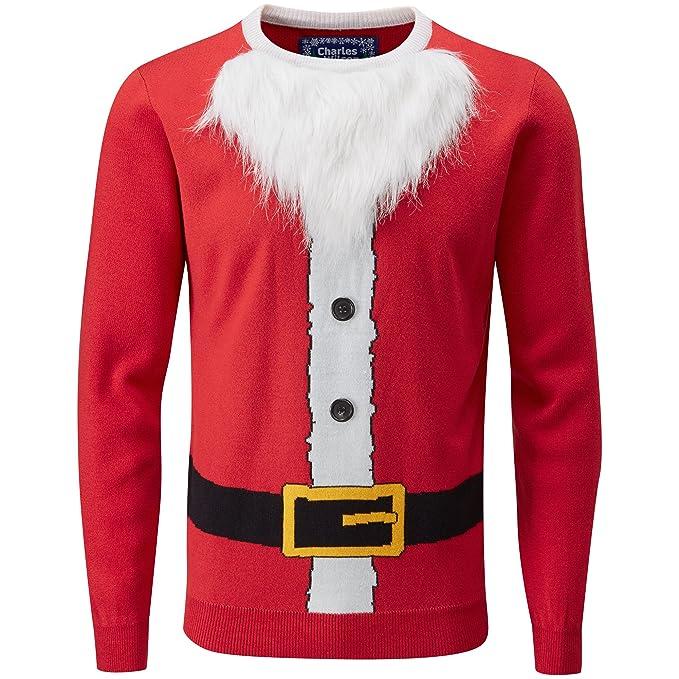 Charles Wilson Jersey de Navidad (Small, 3D Santa Red)