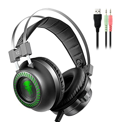 Gaming Headset,YockTec 3.5mm Wired Over-Ear Noise Canceling Stereo on