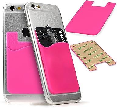 Funda Card Slot, Bolsillo Adhesivo Trasero Universal Smartphone ...