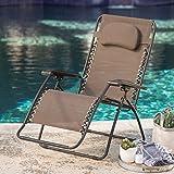 Caravan Canopy Zero Gravity Chair Oversize – Brown