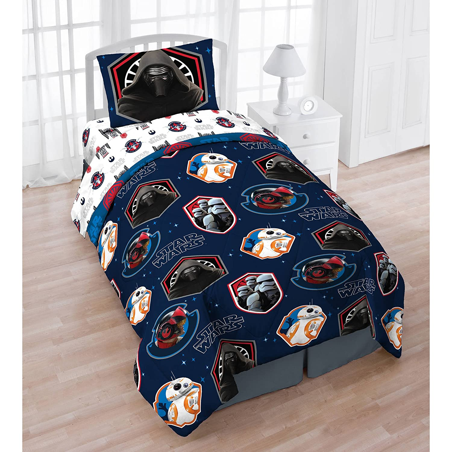 Star Wars Twin Bed in a Bag Bedding Set with BONUS Tote