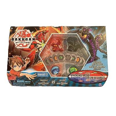 Bakugan Battle Bundle Dragonoid Ventus Vicerox vs Nillious Aquos Phaedrus with Battle Mat: Toys & Games