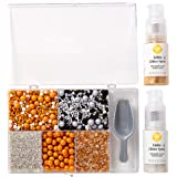 Wilton Silver and Gold Edible Glitter Spray with Sprinkles Set
