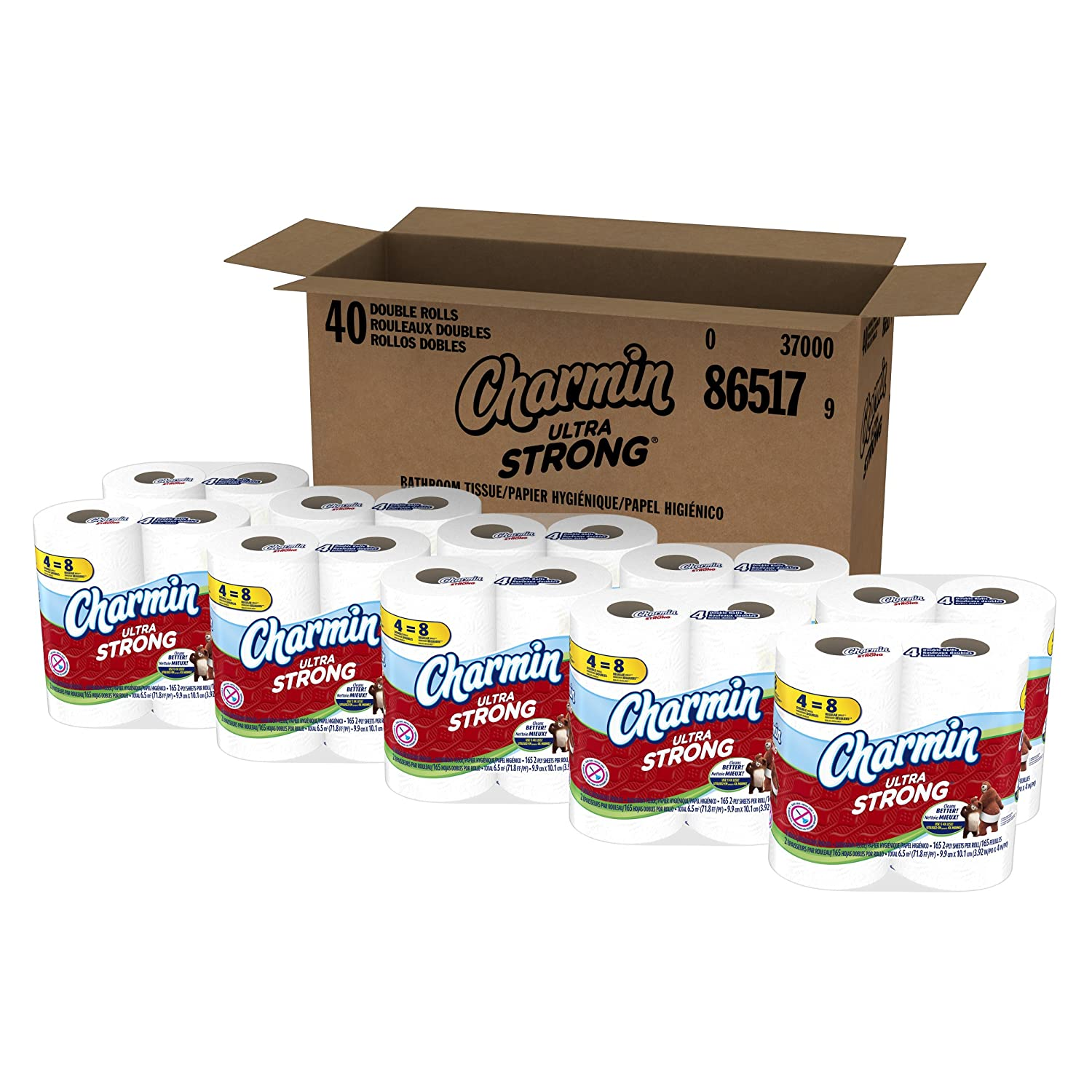 amazon com charmin ultra strong toilet paper 40 double roll 10