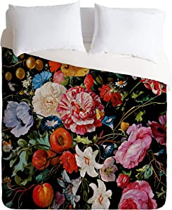 "Society6 Burcu Korkmazyurek Night Garden XXXVI Full/Queen Duvet Cover and 2 Pillow Shams Set, 88"" x 88"", Pillowcases: 30"" x 20"", Multi"