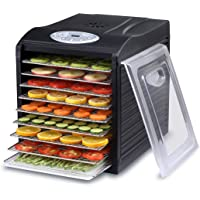 """Samson """"Silent"""" 9 Stainless Steel Tray Dehydrator with Digital Controls"""