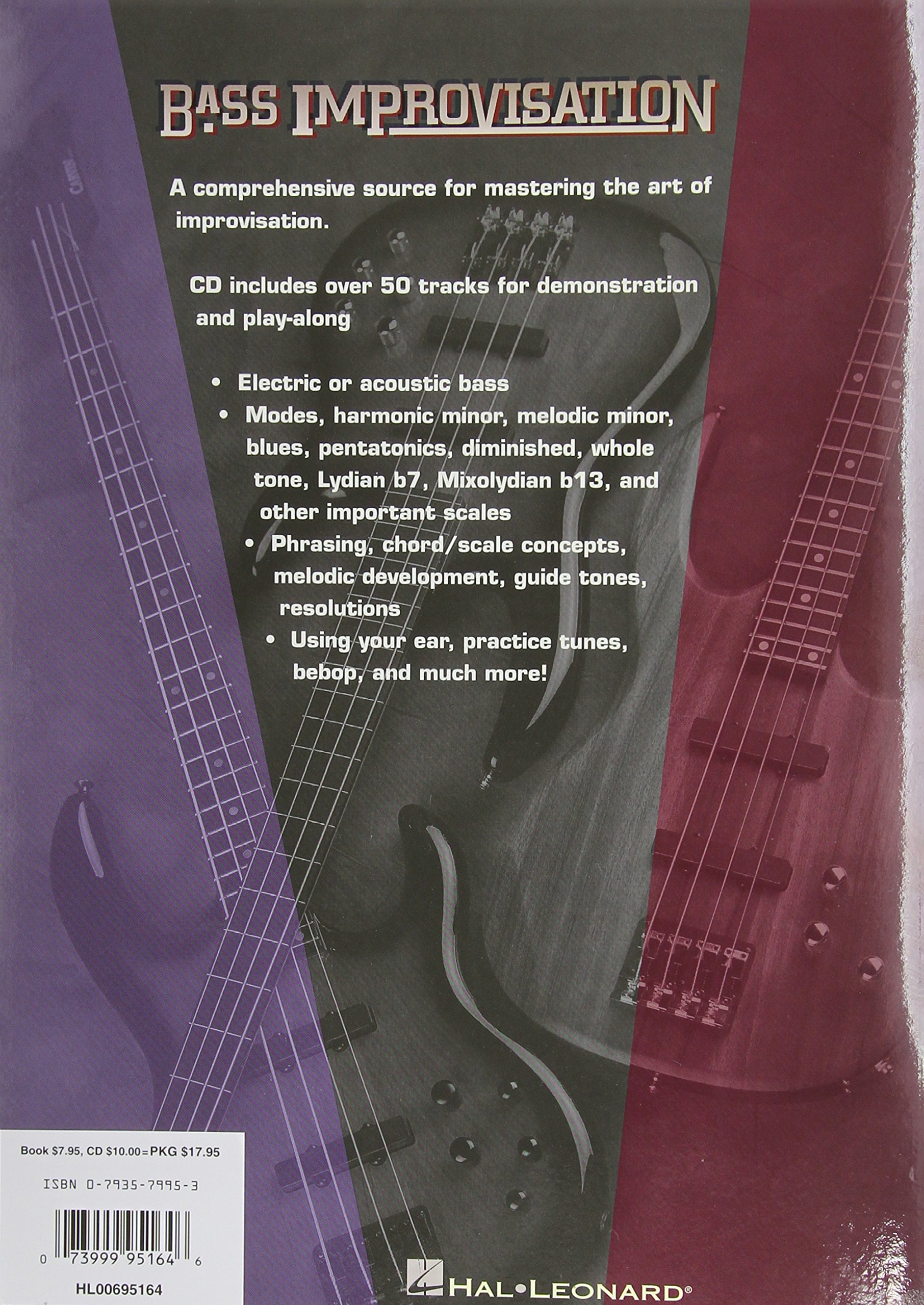 Bass Improvisation: The Complete Guide to Soloing Book & Online Audio by Hal Leonard