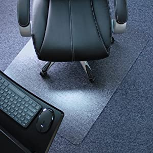 "Marvelux 36"" x 48"" Heavy Duty Polycarbonate (PC) Rectangular Chair Mat for Low, Standard and Medium Pile Carpets 