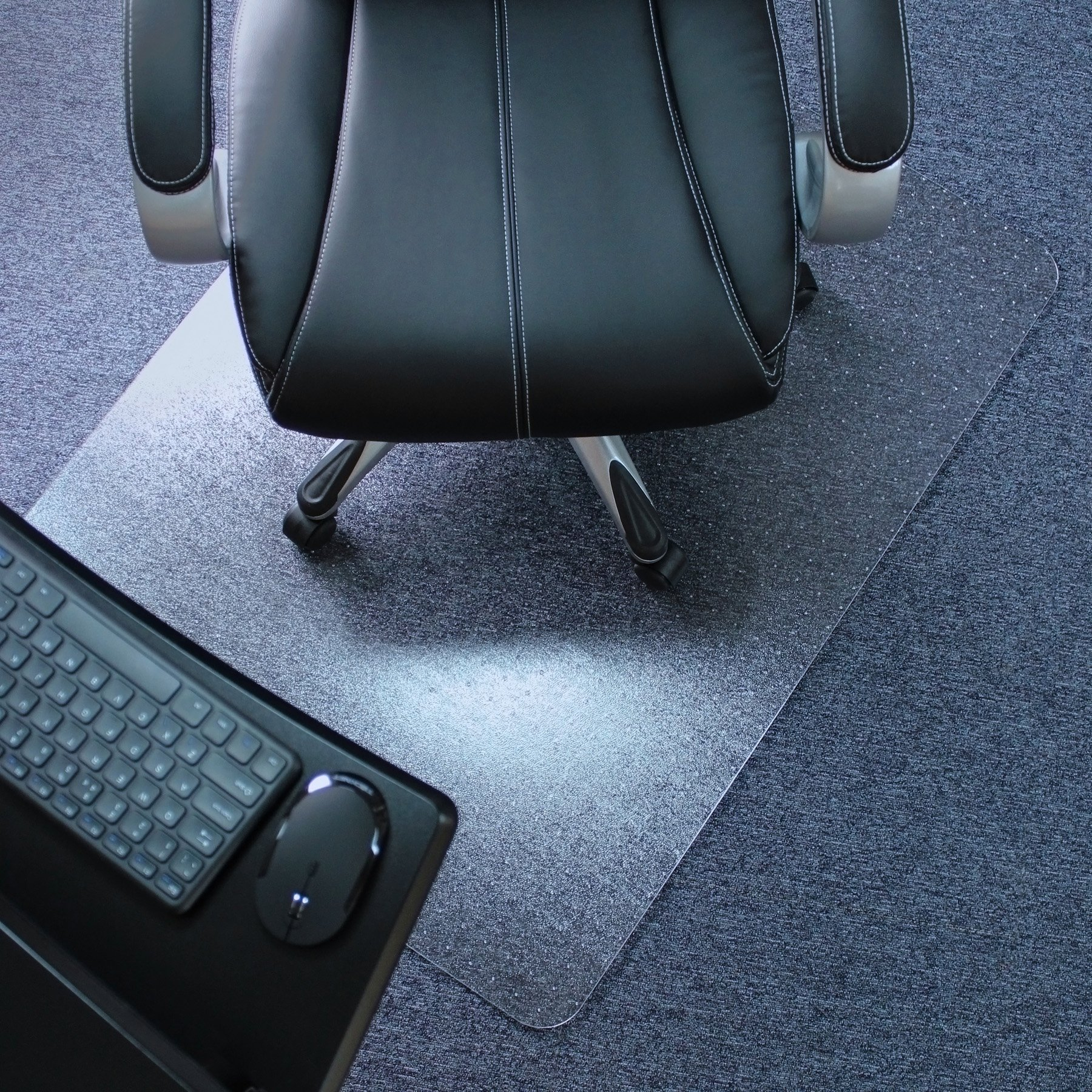 Marvelux 48'' x 60'' Polycarbonate (PC) Rectangular Chair Mat for Low, Standard and Medium Pile Carpets   Transparent Carpet Protector   Multiple Sizes by Marvelux