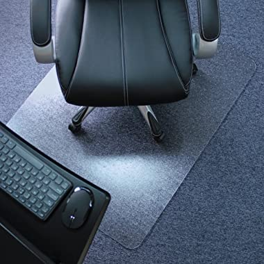 Marvelux 36  x 48  Heavy Duty Polycarbonate (PC) Rectangular Chair Mat for Low, Standard and Medium Pile Carpets | Transparent Carpet Protector | Shipped Flat | Multiple Sizes