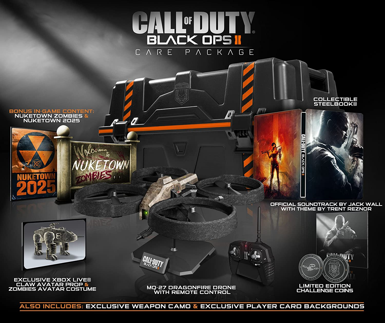 Amazon.com: Call of Duty: Black Ops II Care Package: Xbox 360: Video on black ops 1 maps list, black ops 2 zombies map list, gears of war map list, call of duty black ops 3 map list, battlefield bad company 2 map list, call of duty ghosts gun list, call of duty 4 map list, black ops 2 dlc maps list, modern warfare 2 map list,
