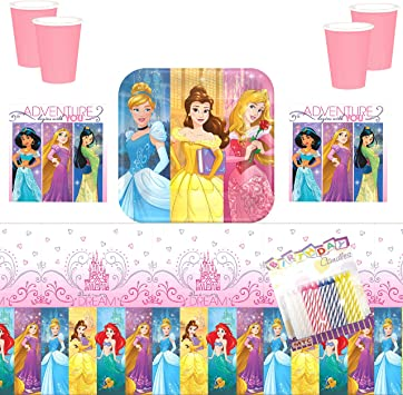 Amazon.com: Disney Princess Dream - Servilletas y tazas de ...