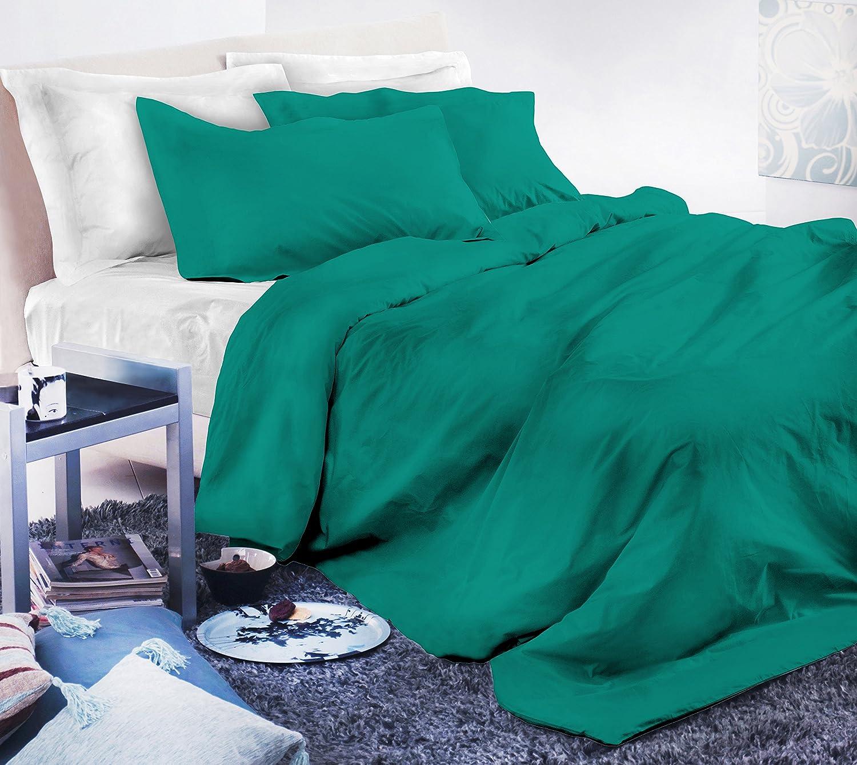 Double ELEGANT cp-el-smeraldo-2pst Duvet Cover Set Microfibre 200/x 250/cm x 1 3/units Emerald