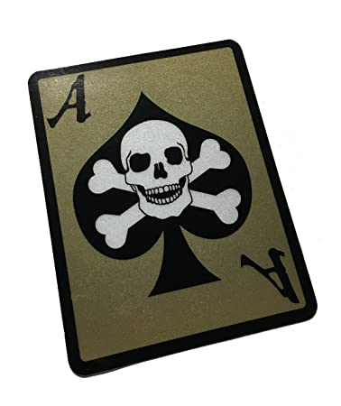 The death dealer card 3m reflective decal sticker ace of spades skull
