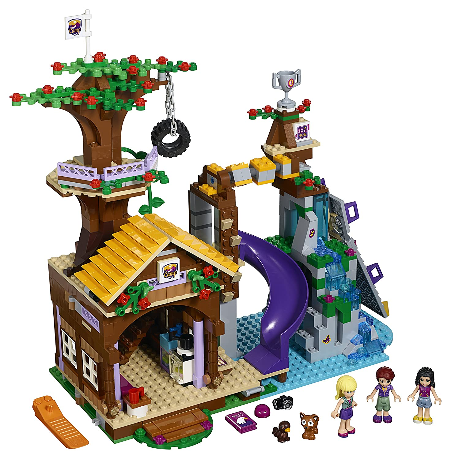 Amazon LEGO Friends Adventure Camp Tree House Toys Games