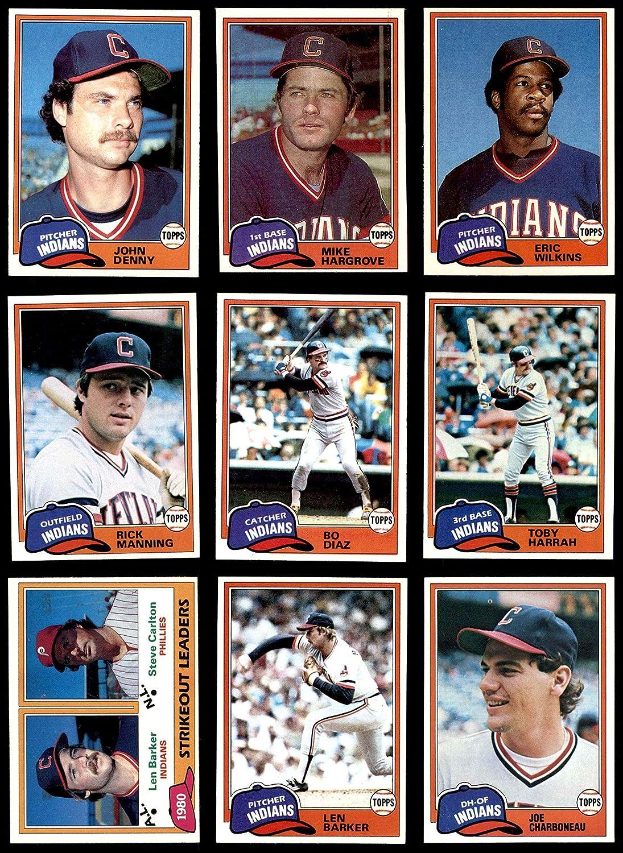 1981 Topps Cleveland Indians Team Set Cleveland Indians (Baseball Set) Dean's Cards 8 - NM/MT Indians 91RXrHMrkJL