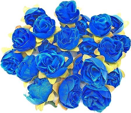 Décoratifs roses craft embellissements bleu