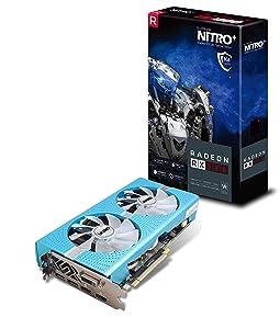 Sapphire Radeon Nitro+ RX 580 8GB GDDR5 Dual HDMI / DVI-D / Dual DP w/ Backplate Special Edition (UEFI) PCI-E Graphic Cards 11265-21-20G